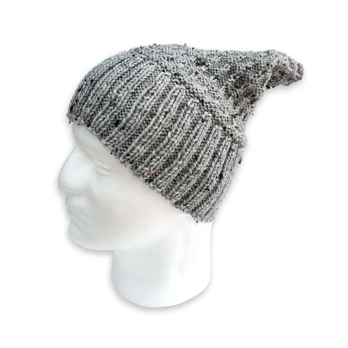 Knit Wool Hat Adult Unisex, Light Gray