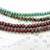 Your choice 3/5 mm fire polish Czech glass DONUT beads w/ Travetine finish, sold