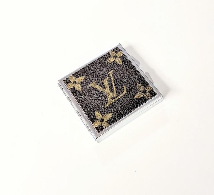 Louis Vuitton Pill box - upcycled LV pill box - Louis Vuitton Pill case -