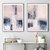 Original abstract painting, rustic home decor, abstract painting ,Diptych pink