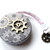 Steampunk Tape Measure with Gray Gears Retractable Measuring Tape