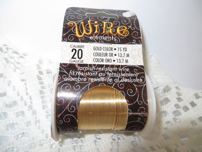 Wire Elements Gold Tarnish - Resistant 20 Gauge Wire by Beadsmith, sold by 15