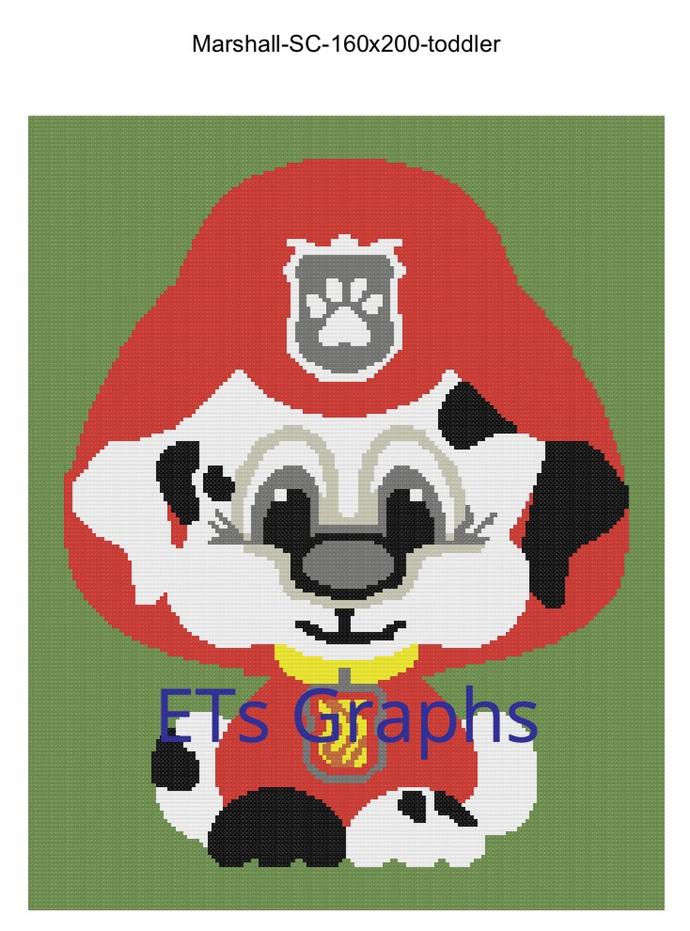 Paw Patrol Puppy - Marshall - SC - 160x200 - Graph w/Written