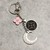 Repurposed Authentic Louis Vuitton - Upcycled Louis Vuitton moon Keychain -
