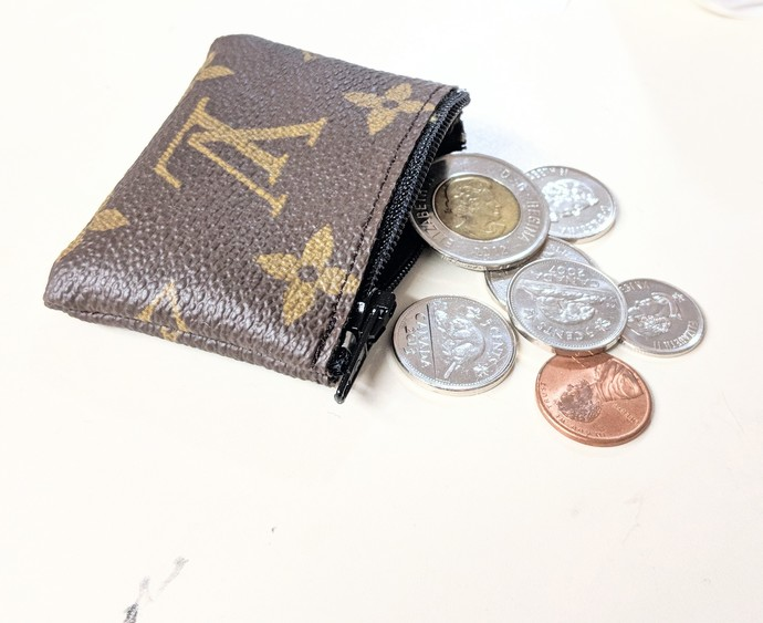 LV mini coin purse - Repurposed Louis Vuitton - Louis Vuitton mini coin pouch -