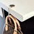Upcycled Louis Vuitton round bag hanger - Louis Vuitton bag hanger - LV bag