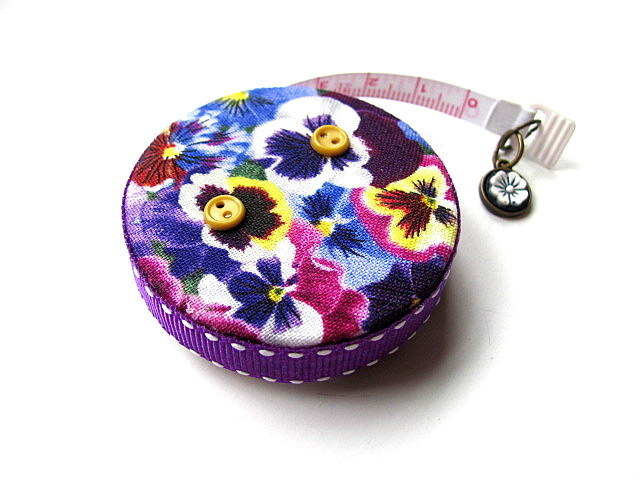 Tape Measure with Pansy Flowers Measuring Tape