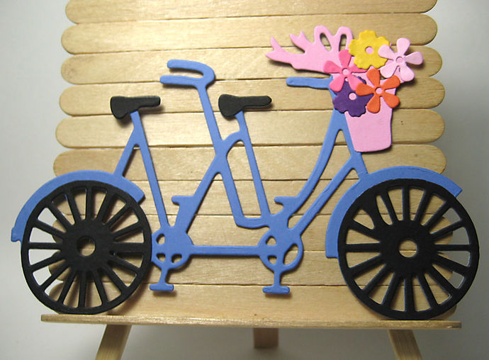Large Bicycle Built for Two, Tandem Bike Cutting Die