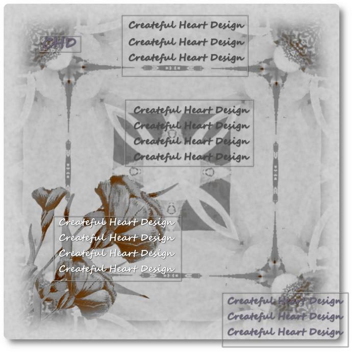 Tintype Garden Digital Paper -