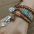 Jasper Leather wrap Bracelet Earth Tone Wrap Jewelry gifts by KnottedUp