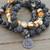 Set of 3 Stacking Bracelets by KnottedUp Yellow & Black Dzi Jasper Agate