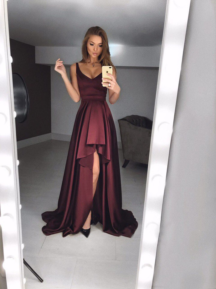 simple prom dresses,burgundy evening gowns,fashion prom dresses