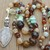 Calming Brown Beaded Stone Necklace with Pendant Gemstone Jewelry by Knotted Up