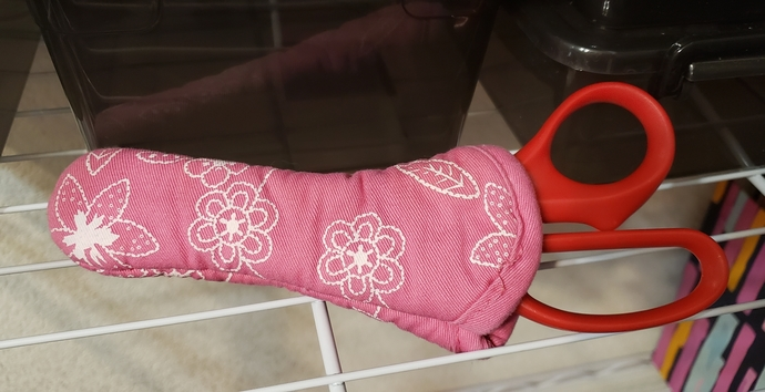 PINK fabric scissors cover