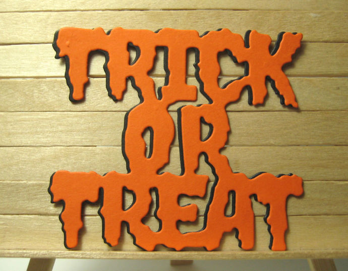 Halloween Trick or Treat Cutting Die