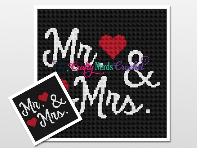 Mr. And Mrs  Pattern Graph With Mini C2C Written