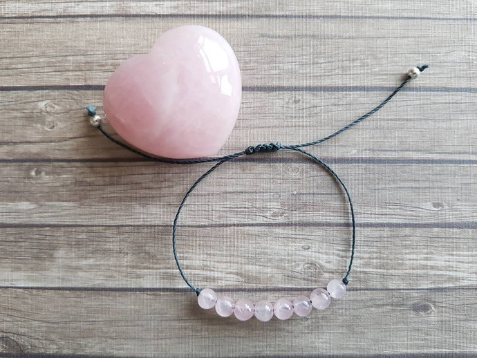Rose Quartz bracelet | love ~ gentleness ~ emotional healing ~ release of stress