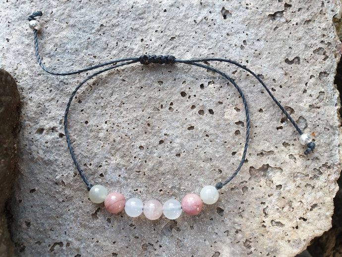 Fertility Bracelet ~ Moonstone Bracelet ~ Rose Quartz jewellery ~ PMS ~