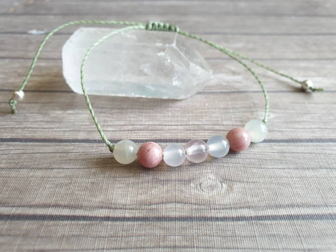 Fertility Bracelet ~ Moonstone Bracelet ~ Rose Quartz jewellery ~ PMS ~