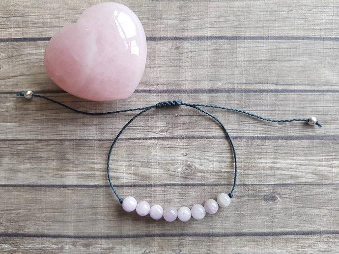 Kunzite bracelet | opens heart to energies of love ~ self love ~ emotional