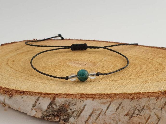 Apatite Quartz Bracelet   calms headaches - overcomes vertigo - enhances