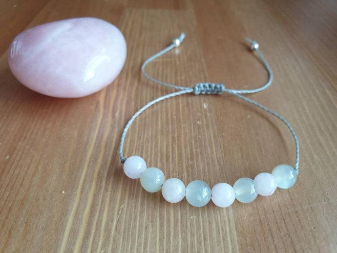 Rose Quartz Moonstone bracelet | inner peace ~ emotional healing ~ calmness ~