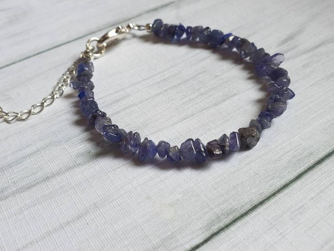Tanzanite bracelet | December birthstone ~ encourages compassion ~ calms the