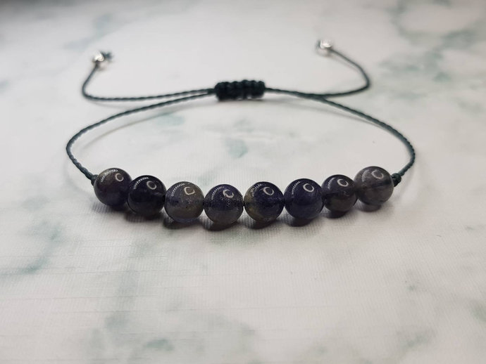 Iolite bracelet | healing of old wounds ~ releases the cause of addiction ~ rids