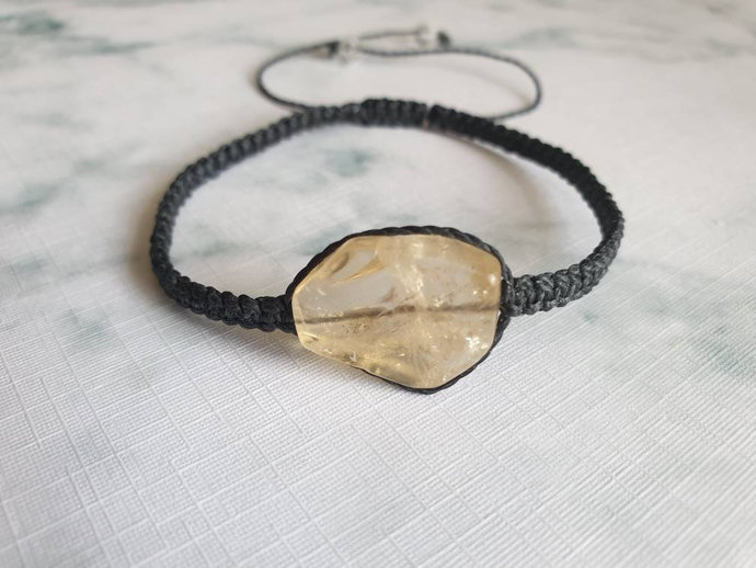 Citrine bracelet | stimulates optimism ~ decisiveness in difficult situations ~