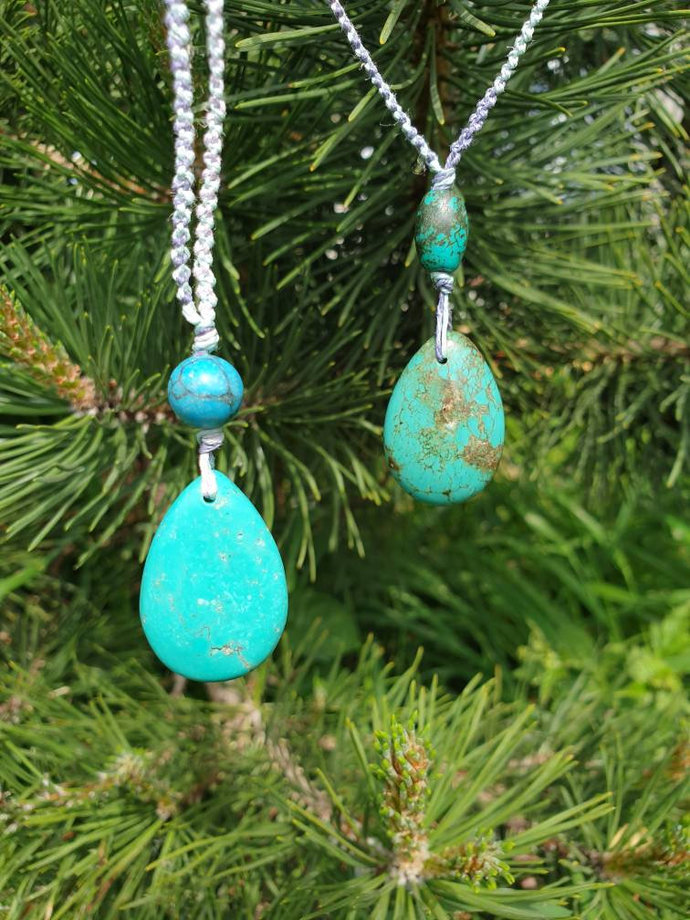 Turquoise Necklace ~ stone of wholeness ~ balancing ~ induces serenity + peace ~
