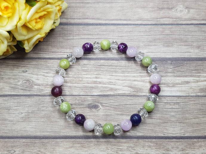 Kunzite bracelet & Peridot bracelet ~ Bipolar Bracelet ~ Bipolar jewelry ~