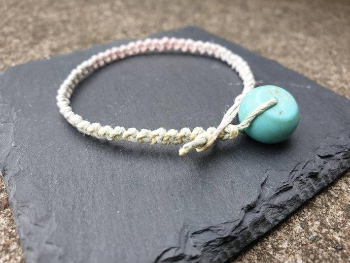 Turquoise Bracelet ~ stone of wholeness ~ balancing ~ induces serenity + peace ~