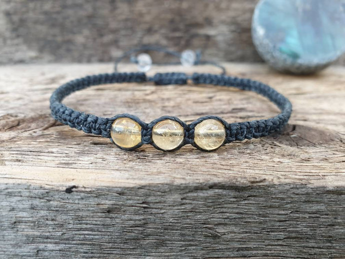 Citrine Shambala Bracelet | energising ~ attracts prosperity ~ imparts joy ~