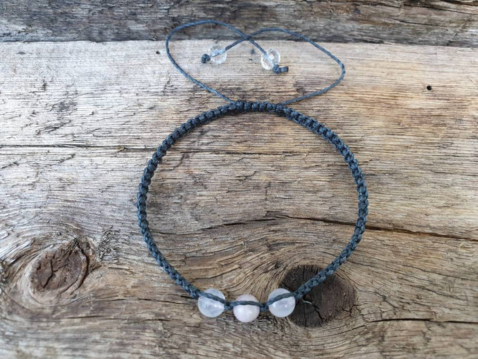 Rose Quartz & Kunzite bracelet   emotional healing ~ stress relief ~ releases