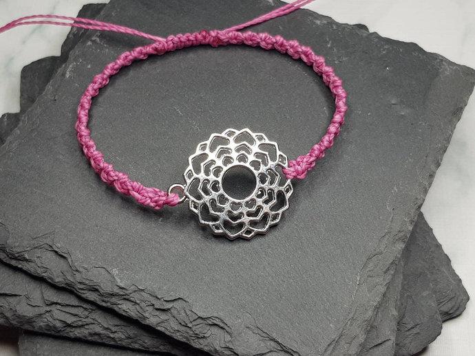 Crown Chakra Charm Bracelet ~ Sahasrara Chakra ~ Mahasukha ~ meditation bracelet