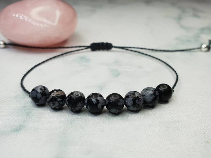 Snowflake Obsidian bracelet | calming & soothing ~ provides balance ~ treats