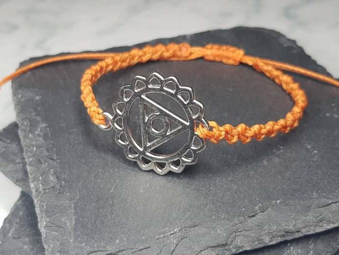 Throat Chakra Charm Bracelet ~ Vishuddha Chakra ~ Sambhoga ~ meditation bracelet