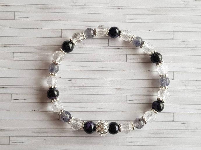 Third Eye Chakra Bracelet | Charoite ~ Iolite ~ spiritual purpose ~