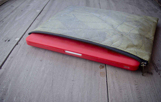 Laptop Case 13 - 14 inch, handmade laptop sleeve from laminated leafes, MacBook