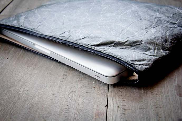 Laptop Case 13 - 14 inch made from natural leafes, Laptop sleeve for MacBooks,