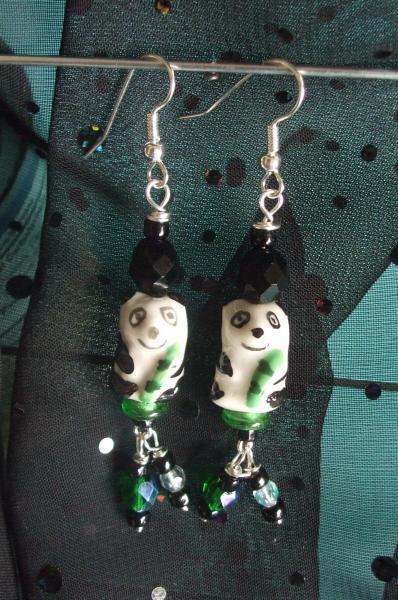 Happy Panda Bear Earrings