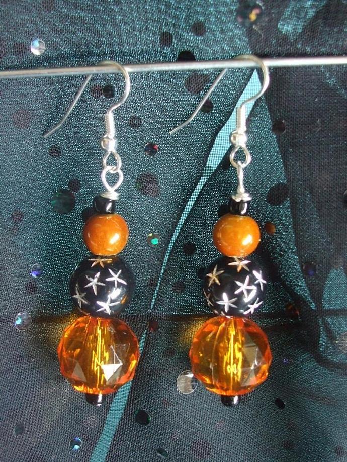 Black & Orange Earrings Halloween