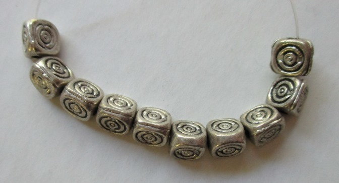 Triangle Silver Metal Accent Beads