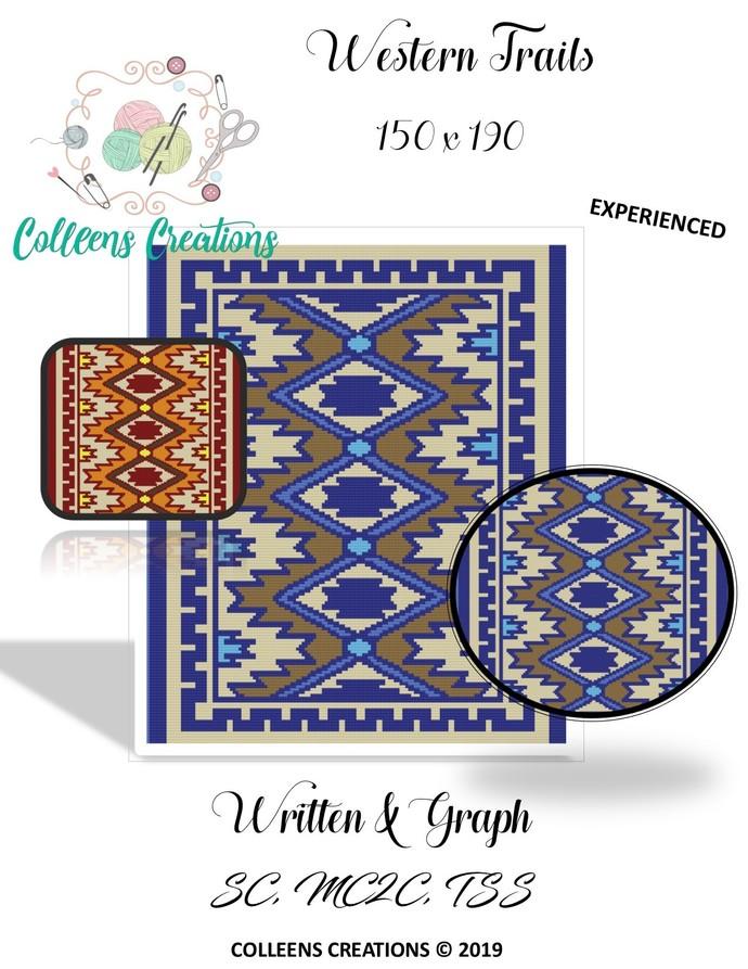 Western Trails Crochet Written & Graph Design