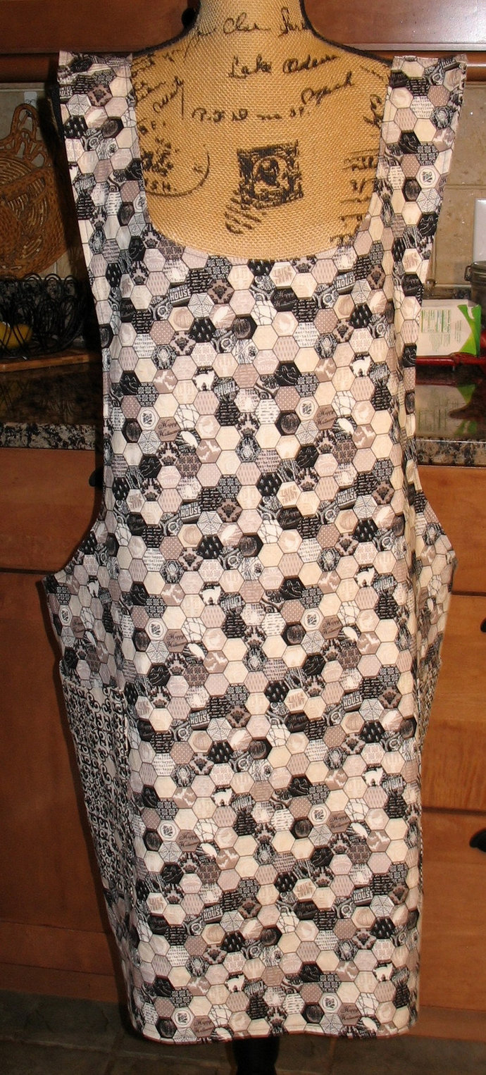 Cross Back apron -  2X/3X fully lined
