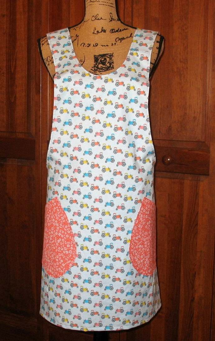 Cross Back apron-Small/Medium fully lined