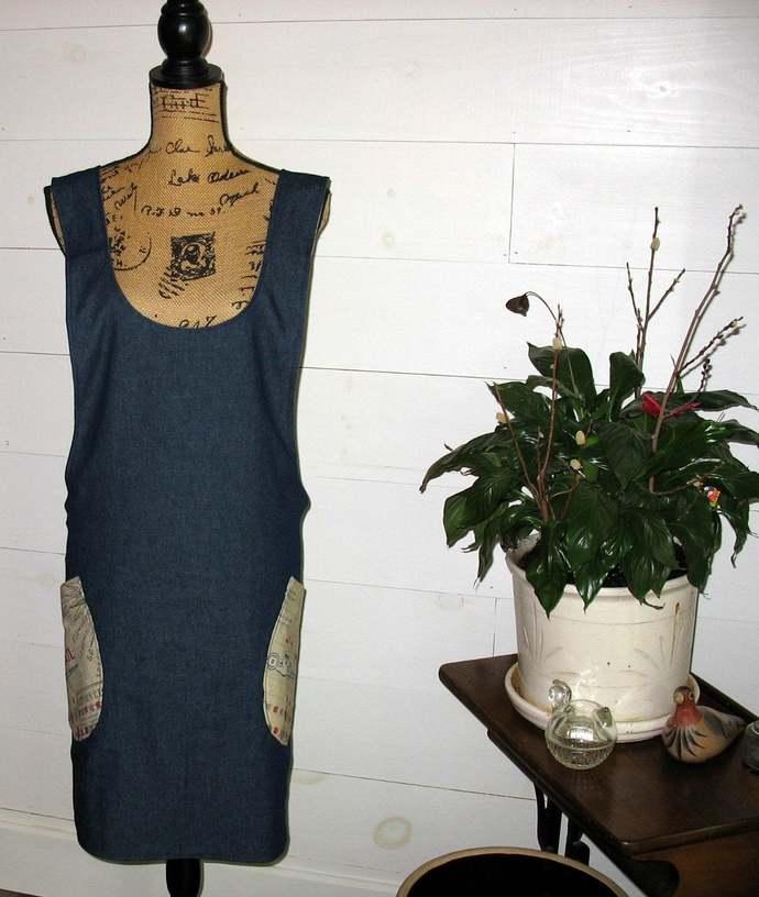 Cross Back apron - Small/Medium fully lined