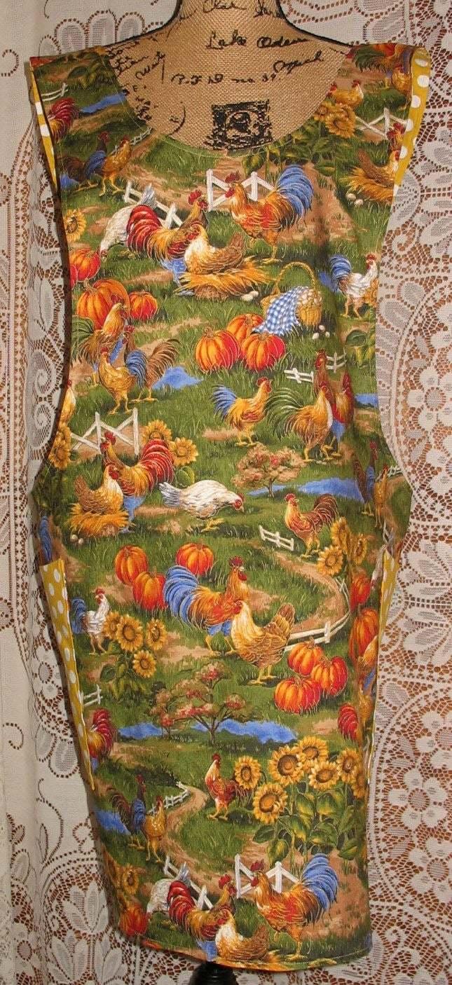 Cross Back apron - Large/XLarge fully lined