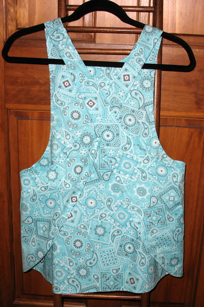 Girl's L (10) Cross back apron/pinafore fully lined or reversible