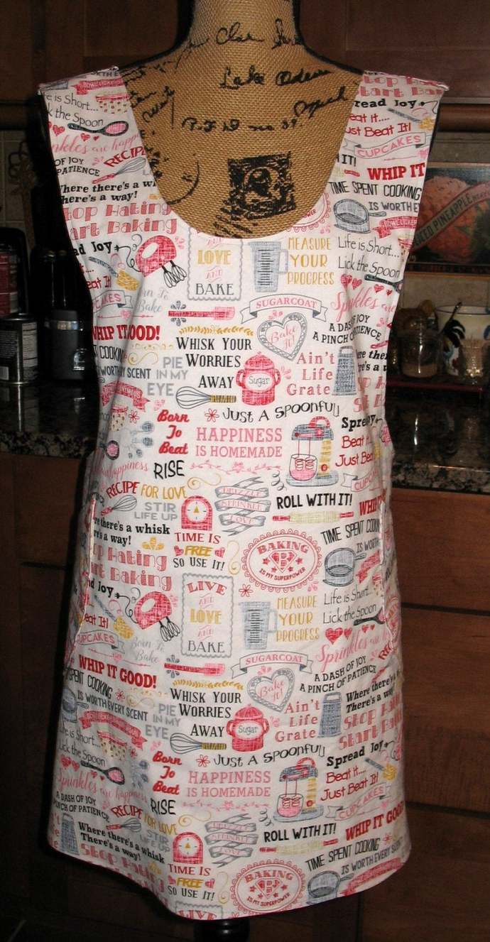 Cross Back apron - Sm/Med or L/XL fully lined